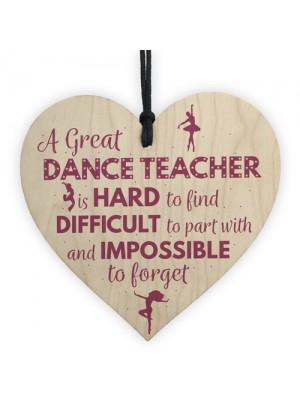Handmade Heart Thank You Dance Teacher Gift Goodbye Gift For Her