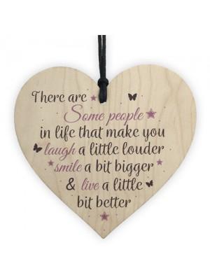 Handmade Wood Heart Plaque Best Friend Gift Special Friendship