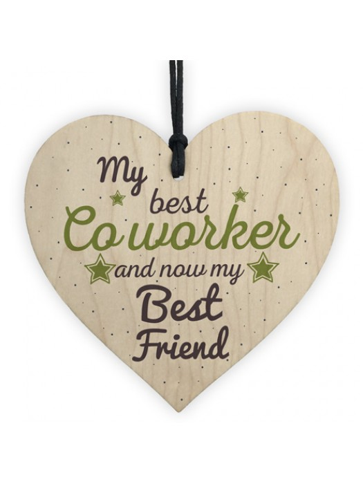 Handmade Colleague Heart Plaque Sign Co Worker Birthday Gift