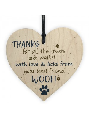 Handmade Wooden Heart Plaque Gifts For Dad Mum Dog Keepsake