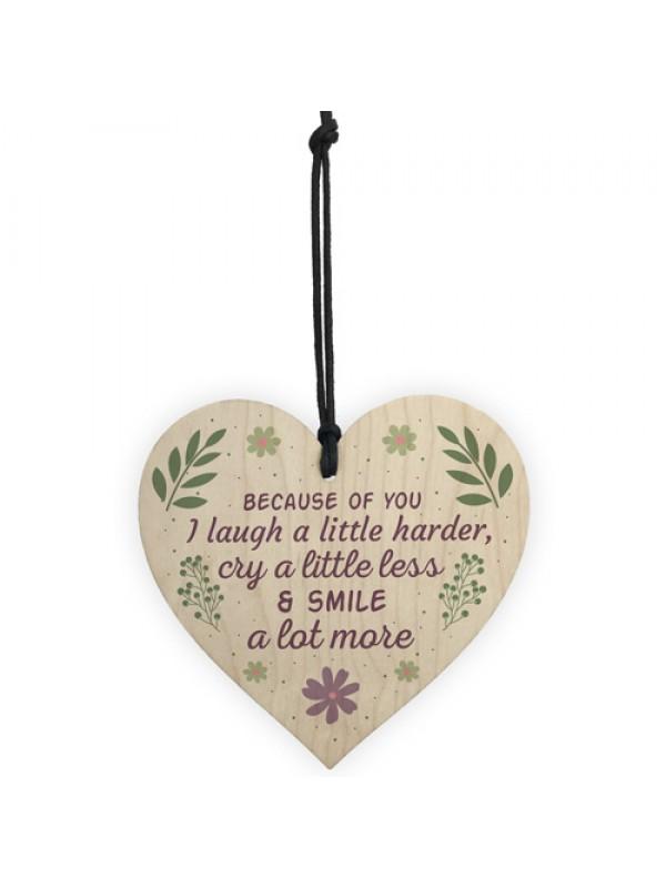 Best Friend Gift Wooden Heart Friendship Birthday Keepsake