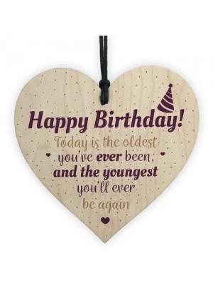 Birthday Gift For Mum Dad Nan Grandad Funny Wooden Heart