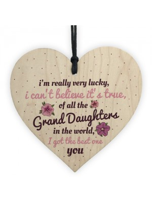 Granddaughter Gift Wooden Heart Birthday Thank You Gifts For Her