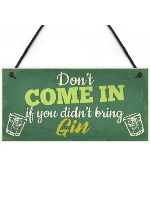 Funny Bar Sign Novelty Hanging Sign Gin Gifts Pub Man Cave