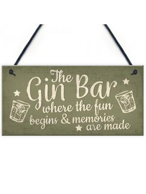 Bar Sign Novelty Hanging Home Gin Bar Pub Plaque Funny Man Cave