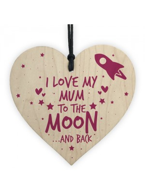 Birthday Gift For Mum Sign Mummy Wooden Heart Special Keepsake