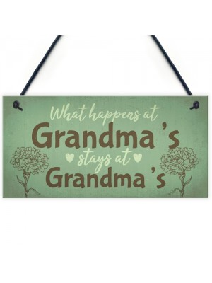 Grandma Gifts For Nan Nanny Hanging Garden Sign Kitchen Plaque