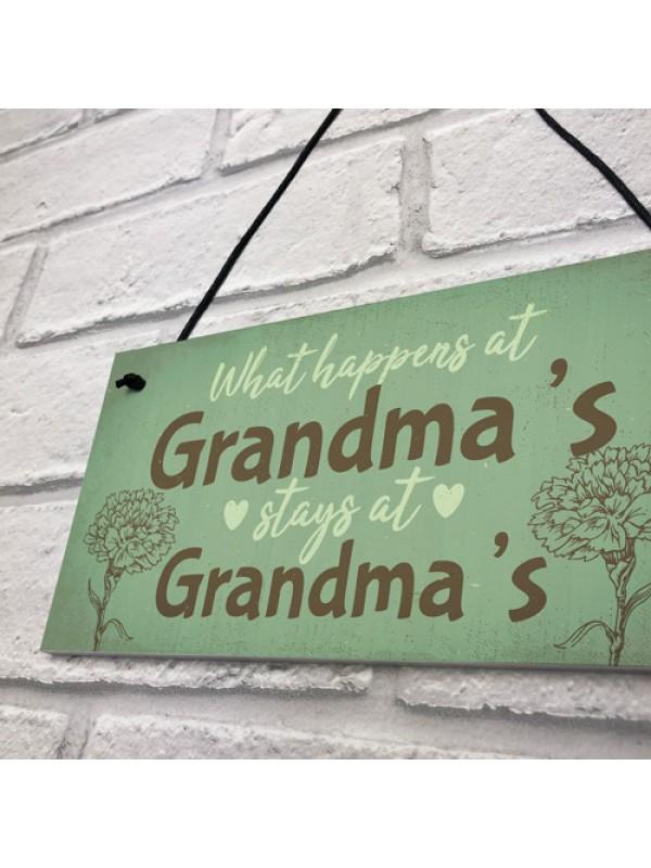 Grandma Gifts For Nan Nanny Hanging Garden Sign Kitchen Plaque