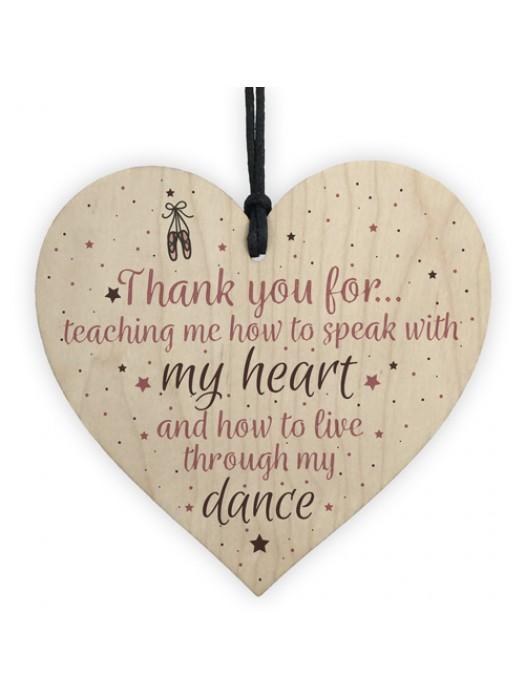 Thank You Gift Gymnastics Gymnast Dance Teacher Coach Heart
