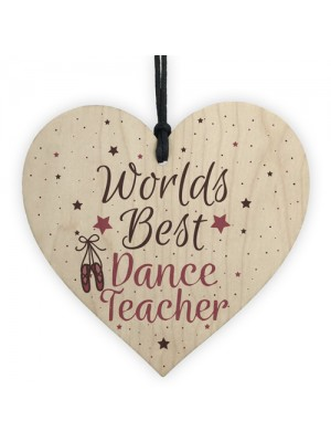 Dance Teacher Ballet Best Coach Heart Thank You Leaving Present