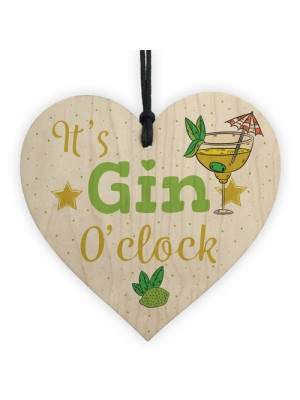 Gin Sign Gin & Tonic Gift Wood Heart Plaque Friend House Warming