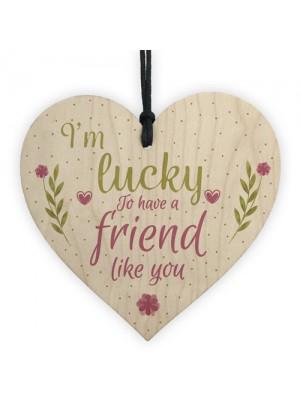 Friendship Gift FRIEND Sign Best Friend Plaque Chic Wooden Heart