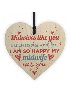 Midwife Thank You Gift Nurse Newborn Baby Gift Wooden Heart Sign
