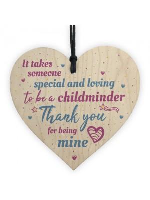 Childminder Gift Handmade Wooden Heart Sign Teacher Nursery Gift