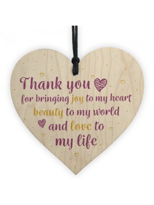 Thank You Gift Wedding Anniversary Gift Wood Heart Gift For Her