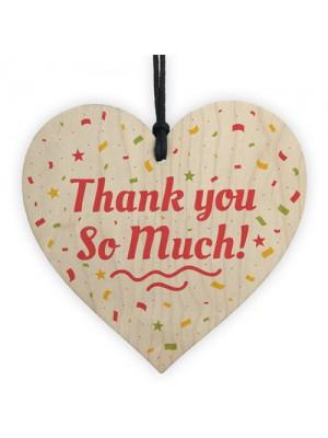Thank You Teacher Midwife Tutor Friend Handmade Wood Heart Gift