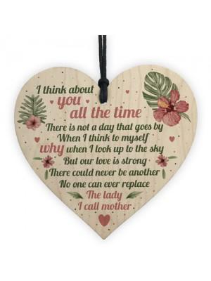 Mum Memorial Gifts Wooden Heart Grave Plaque Tribute Sign Mum
