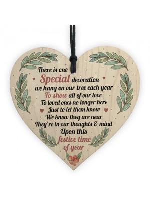 Memorial Plaque Decoration Mum Dad Nan Memorial Gift Wood Heart