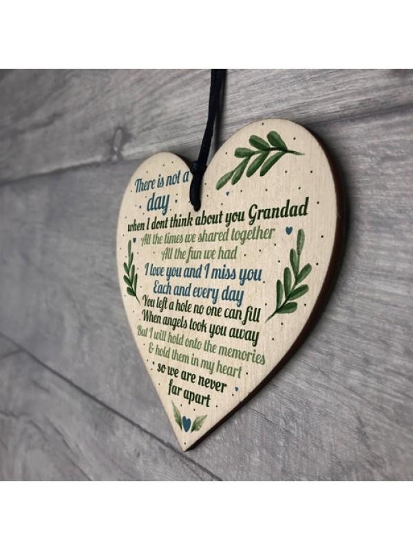 Grandad Grave Memorial Grave Plaque Graveside Tribute Wood Sign