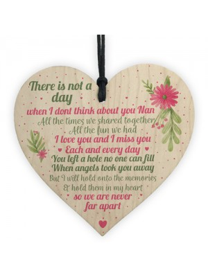 Nan Memorial Gifts Grave Plaque Tribute Sign Wooden Heart Nan