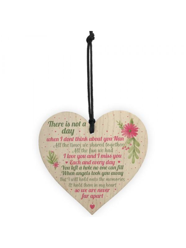 Nan Memorial Gifts Grave Plaque Tribute Sign Wooden Heart Nan