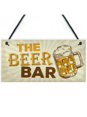 Home Bar Sign Pub Man Cave Sign Shed Hanging Plaque Alcohol Gift