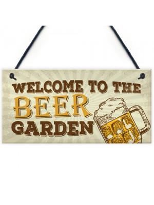 Beer Garden Bar Sign For Garden Pub Man Cave Shed Plaque Gift