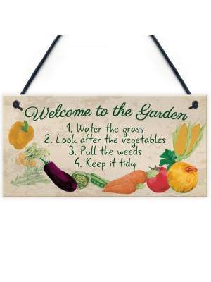 Garden Sign Welcome Plaque Shed Summer House Sign Nan Mum Gift