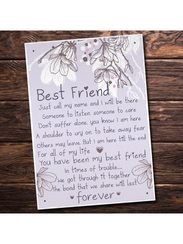 Friendship Gift Best Friend Plaque Sign Thank You Birthday Gifts
