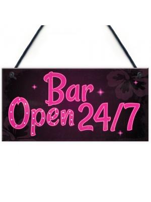 Bar Sign Pub Club Home Bar Open Display Hanging Plaque Kitchen