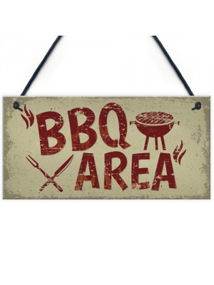 Garden Plaque BBQ Area Bar Home Sign Man Cave Shed Sign Gift
