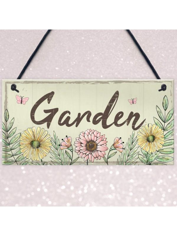 Garden Sign Door Shed Garden SummerHouse Plaque Home Decor