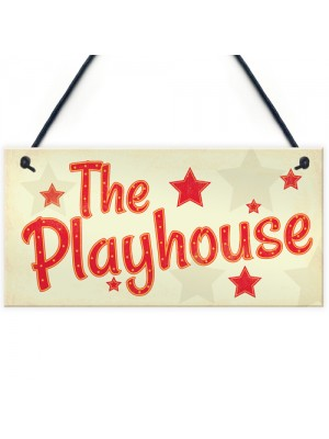 Childs The Playhouse Bedroom Playroom Sign Hanging Wall Plaque