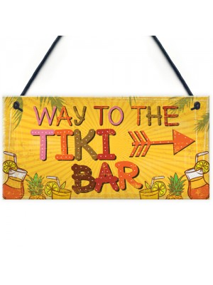 Welome Tiki Bar Party Hanging Pub Plaque Beer Cocktails Sign