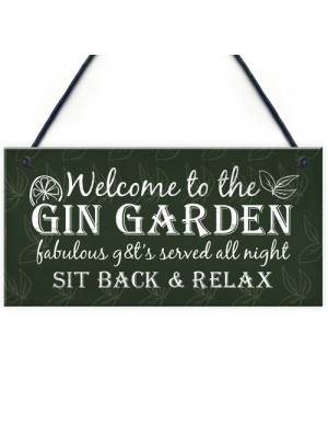 Gin Signs Garden Shed Bar Pub Plaque Gin & Tonic Alcohol Sign