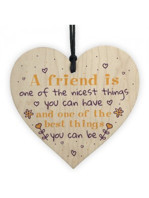 Friendship Sign Best Friend Plaque Inspirational Gift Wood Heart