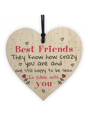 Best Friend Birthday Gift Friendship Sign Wood Heart Thank You