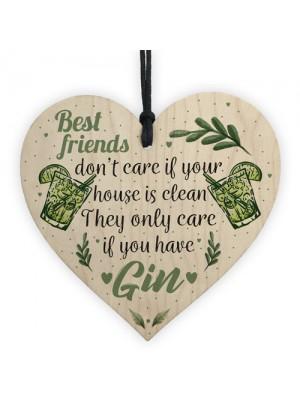Gin & Tonic Novelty Wood Heart Friendship Gin Gift Alcohol Decor