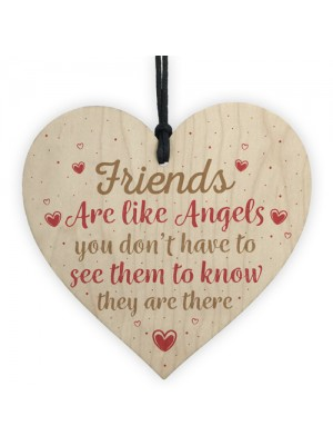 Friends Are Like Angels Friendship Thank You Gift Wooden Sign