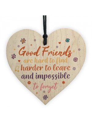 Best Friend Sign Friendship Plaque Handmade Wood Heart Thank You