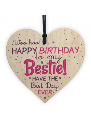 Birthday Friendship Best Friend Gift Wood Heart Plaque Thank You