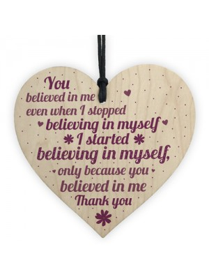 Friendship Sign Motivational Wood Heart Thank You Gift For Women