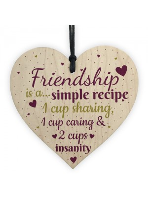 Friendship Sign Simple Recipe Heart FRIEND Special Birthday Gift