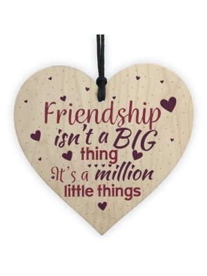 Thank You FRIEND Gift Wood Heart Special Birthday Keepsake Gifts