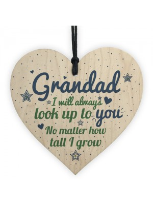 Gifts For Dad Grandad Grandpa Wooden Heart Birthday Men Gifts