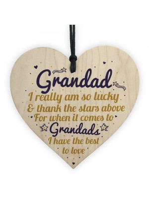 Best Grandad Gifts Wooden Heart Grandpa Birthday Gifts For Him