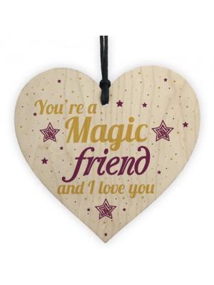 FRIEND Sign Inspirational Wooden Heart Plaque Friendship Gift