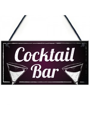Cocktail Bar Decorations Home Bar Club Man Cave Garden Sign Gift