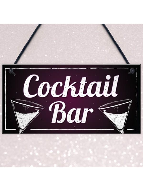 Cocktail Bar Decorations Home Bar Club Man Cave Garden Sign Gift