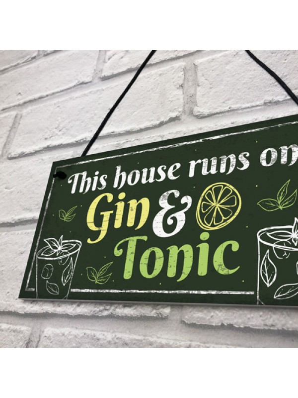 Gin Signs For Garden Shed SummerHouse Sign Funny Alcohol Gift